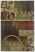 Sphinx by Oriental Weavers 748679217496 Generations 2 ft. x 3 ft. Contemporary Rug - Green and Red