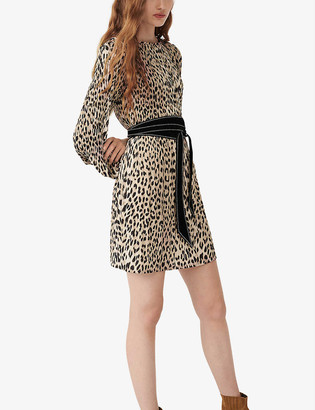 Maje Rockine leopard print mini dress