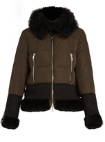 Moncler Kikilia water-repellent fur-trimmed down jacket