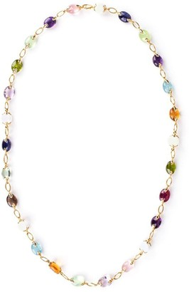 Verdura 18kt yellow gold Fulco gemstone necklace