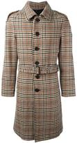 Burberry checked mid-length coat