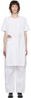 Comme des Garcons White Cut-Out T-Shirt Dress