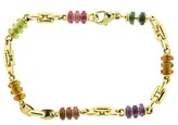 Bulgari 18k Yellow Gold Bvlgari Colored Stone Bracelet