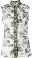 Fay sleeveless floral print shirt