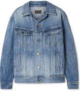 Saint Laurent Oversized Denim Jacket - Mid denim
