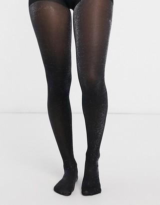 Gipsy glitter sparkle tights in black