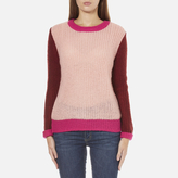 Maison Scotch Women's Fluffy Crew Neck Jumper Multi