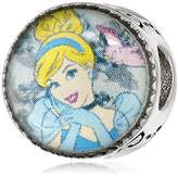 Disney Stainless Steel Cinderella Bead Charm