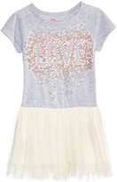 Epic Threads Glitter Love-Graphic Tulle Dress, Little Girls (4-6X), Created for Macy's