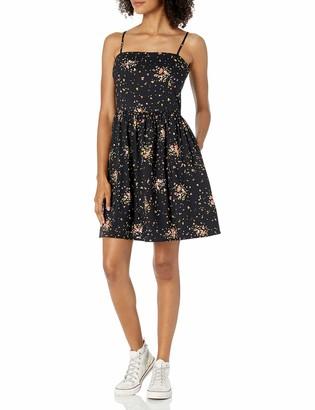 Goodthreads Amazon Brand Women's Georgette Smock-Back Cami Mini Dress