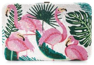 Judith Leiber Couture Seamless Flamingo Crystal Clutch
