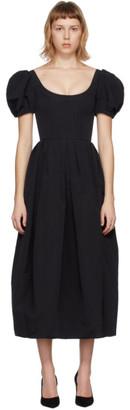 Brock Collection Black Salvina Flamed Dress