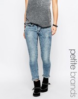 Noisy May Petite Eve Super Slim Blue Wash Jeans