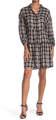 Max Studio 3/4 Sleeve Shirt Dress