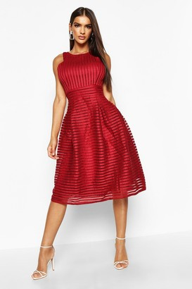 boohoo Boutique Panelled Full Skirt Skater Dress