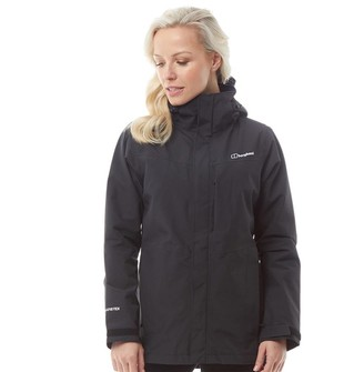 Berghaus Womens Hillwalker Long 2 Layer GORE-TEX Shell Jacket Black/Black