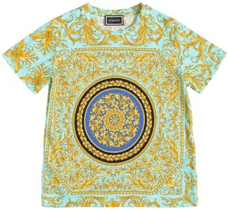 Versace Barocco Print Cotton Jersey T-shirt