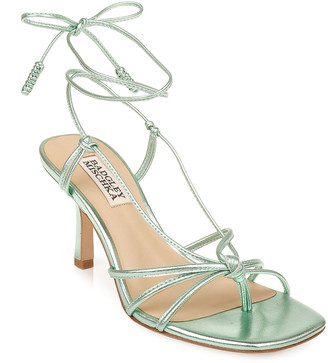 Badgley Mischka Jovial Ankle-Tie Sandals