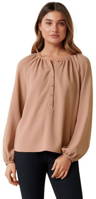 Forever New Gabby Gathered Neck Blouse