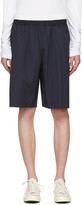 Comme des Garcons Navy Workstitch Shorts