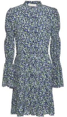 MICHAEL Michael Kors Pleated Floral-print Crepe Mini Dress