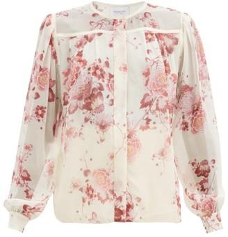Giambattista Valli Floral-print Silk-georgette Blouse - Pink Print