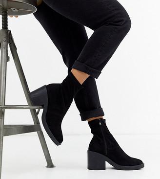 Raid Wide Fit Tatum chunky sock boots in black