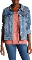 Democracy Floral Embroidered Denim Jacket