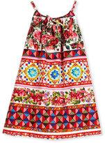 Dolce & Gabbana Sleeveless Poplin Mambo Sundress, Multicolor, Size 4-6