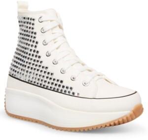 Madden-Girl Winnona Rhinestone Flatform High-Top Sneakers