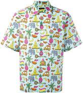 Prada multi print shortsleeved shirt - men - Cotton - XS