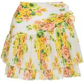 Zimmermann Floral pleated mini skirt