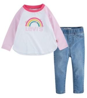 Levi's Baby Girls Raglan Denim Set