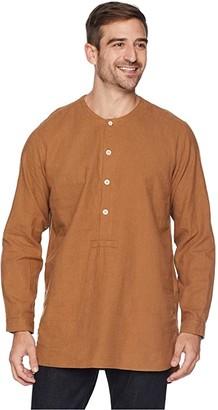 Snow Peak Cotton/Wool Flannel Sleeping Shirt (Brown) Men's Pajama