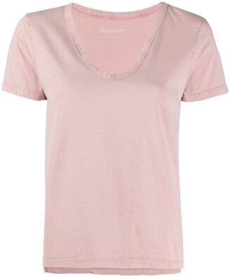 Zadig & Voltaire Atal Bis Henley v-neck T-shirt