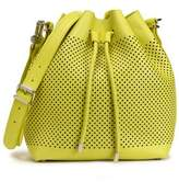 Proenza Schouler Perforated Neon Leather Bucket Bag