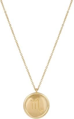 Washed Ashore Zodiac Medallion In Gold Scorpio