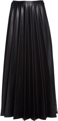Peter Do Pleated Vegan Leather Maxi Skirt