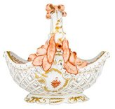 Herend Chinese Bouquet Pierced Porcelain Basket