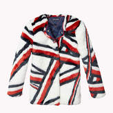 Tommy Hilfiger Faux Fur Signature Stripe Jacket