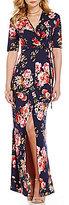 Stilletto's Floral Printed Wrap Maxi Dress