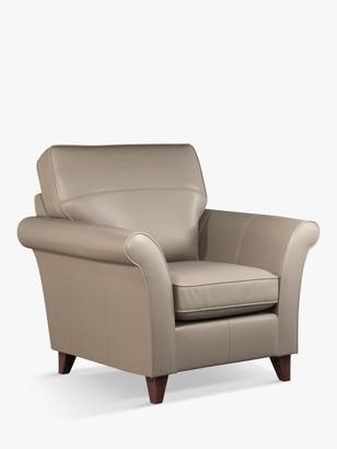 John Lewis & Partners Charlotte High Back Leather Armchair, Dark Leg
