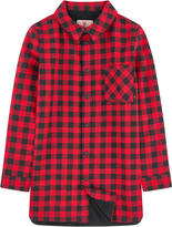 Little Eleven Paris Fleece-lined shirt with checks