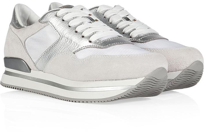 Hogan Leather/Suede Triple 2 Platform Sneakers