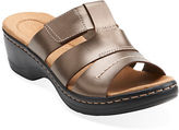 Clarks Hayla Glacier Leather Sandals
