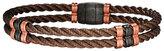 Jan Leslie Men's Bronze 925 Sterling Silver Double-Cable Bracelet