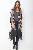 Goddis Alexis Hooded Kimono in Apache Leather