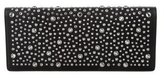 Saint Laurent Leather Fetiche Embellished Clutch