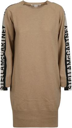 Stella McCartney Logo Sleeve Sweater Dress