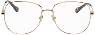 Chloé Gold Joni Square Glasses